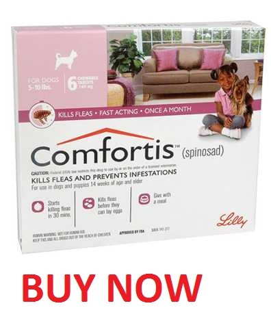 Comfortis pink 5 to 10 lbs for dogs